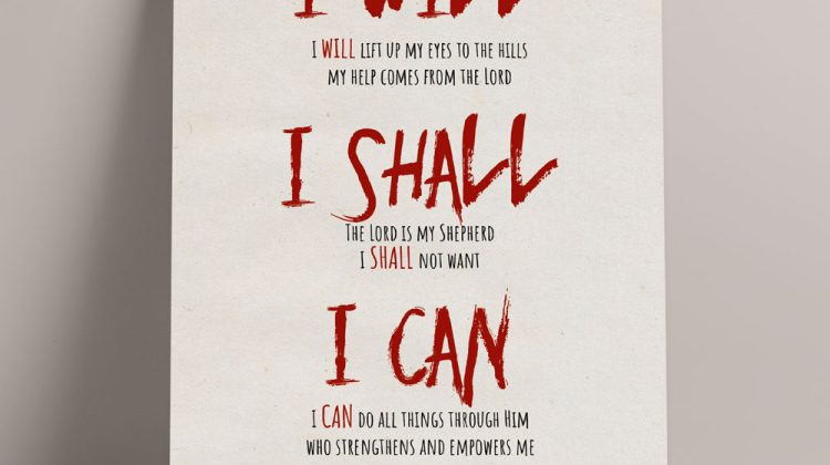 I WILL, I SHALL, I CAN